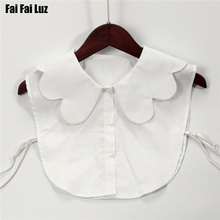 women scalloped fake collar white cotton shirt detachable collar simple but cute apparel accessories