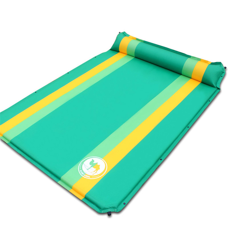 High-quality-033-2-color-double-automatic-inflatable-mat-outdoor-camping-mattress