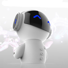 Portable New Innovative Robot Smart Blueototh Speaker With BT CSR3.0 Plus Bass Music Handsfree TF MP3 AUX And Power Bank Fuction(China)