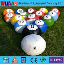 Giant Inflatable Snooker Soccer Ball in Snookball Game,Huge Billiards Ball(Air Pump+16 pcs Soccer Toy) Balls)