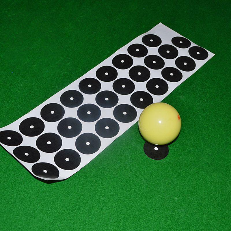 Lots 15 Self-Adhesive Billiard Pool Table Spots 35mm Black Sticker Trainer