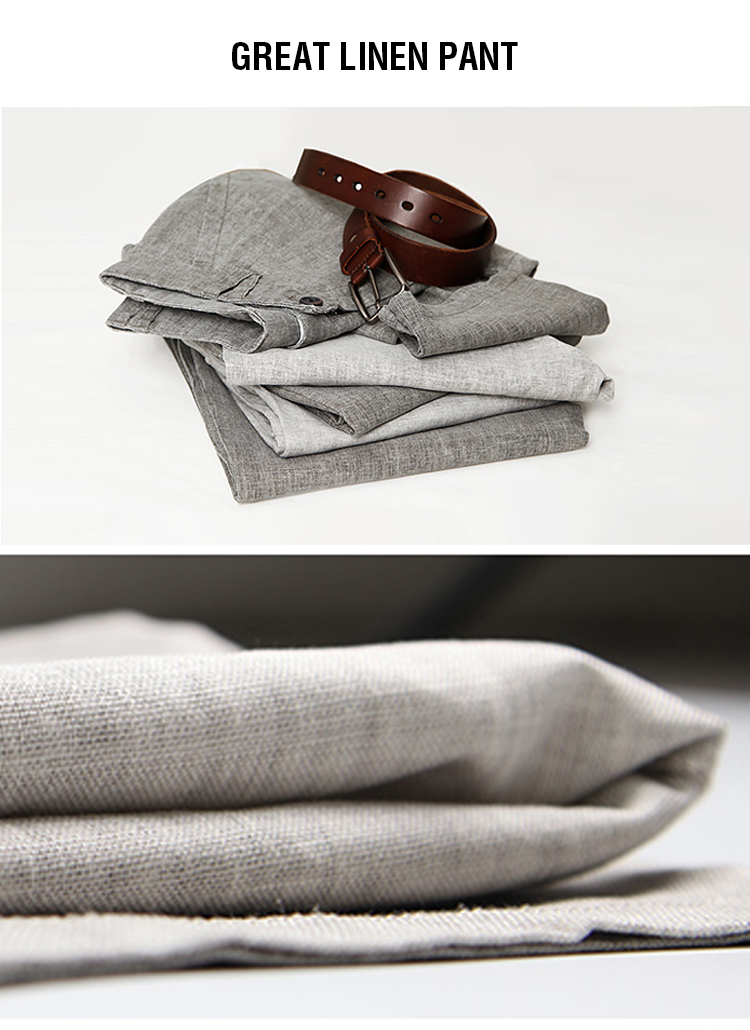 Markless Thin Linen Men Pants Male Commercial Loose Casual Business Trousers Men's Clothing Straight Fluid Man Pants 3