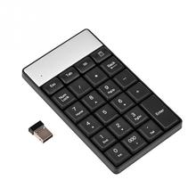 Black USB 2.4G Wireless Numeric Keypad 23 Keys Small Mini Keyboard With Calculator Key For Accounting Tablet Laptop Desktop