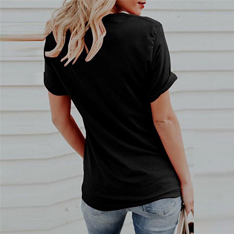 2018 new women tshirt summer sexy black o neck short sleeve tshirt cat print sweat casual shirt tops hot sale wholesale #FM11 (8)