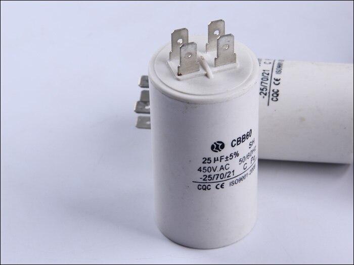 Free Shipping Running Capacitor Two Pins 1PCS 450V 25UF Motor Start Capacitor CBB60.Motor Capacitor.<br><br>Aliexpress
