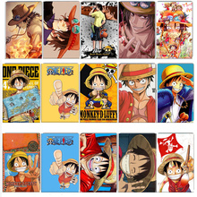 40 pcs/lot ONE PIECE Stickers Classic Toys Anime Luffy Card Sticker Anti-Dust Bus ID Card Stickers kids birthday party gifts