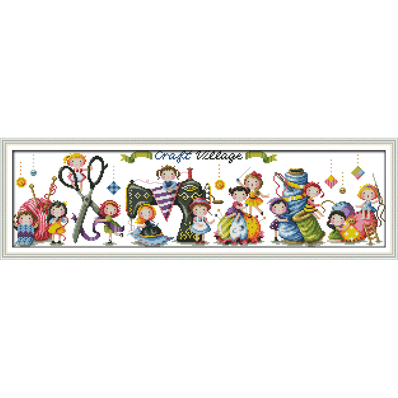 Everlasting love Christmas Craft village Ecological cotton Chinese cross stitch kits counted stamped 11 CT 14 CT sales promotion