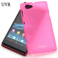 UVR TPU Silicone Gel Case For Sony Xperia L S36H C2104 C2105 C210X Dirt Resistant Cell Phone Protective Cover Bags(China)