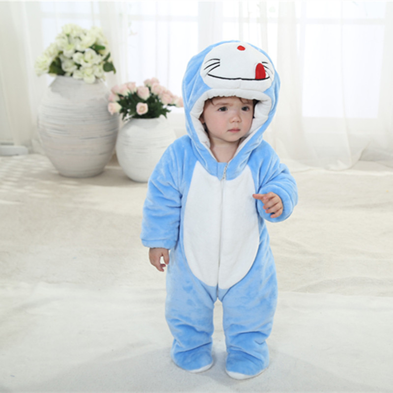 Cute Autumn Winter Cotton Polyester Baby Romper Long Sleeve Coverall Hooded Infant Jumpsuit animals One Piece for Toodler 59<br><br>Aliexpress