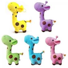 1pcs18cm Cute Baby Toys Rainbow Giraffe Plush Toys Dolls For Kids gift for your friends  6 Colors Available