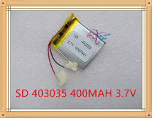 Liter energy battery 3.7V polymer lithium battery 403035 043035 MP4 MP3 Bluetooth audio electronic dog 400MAH