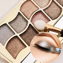 Qiaoyan Brand Eye Makeup 12 Colors Eyeshadow Palette Cosmetics Makeup Palette Diamond Bright Glitter Eye Shadow(China)