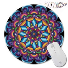 New Arrivals 200*200*2mm Print  Persian carpet style Design Round Mouse Pad Antiskid Rubber Mat game Mouse Pad, Office Gift