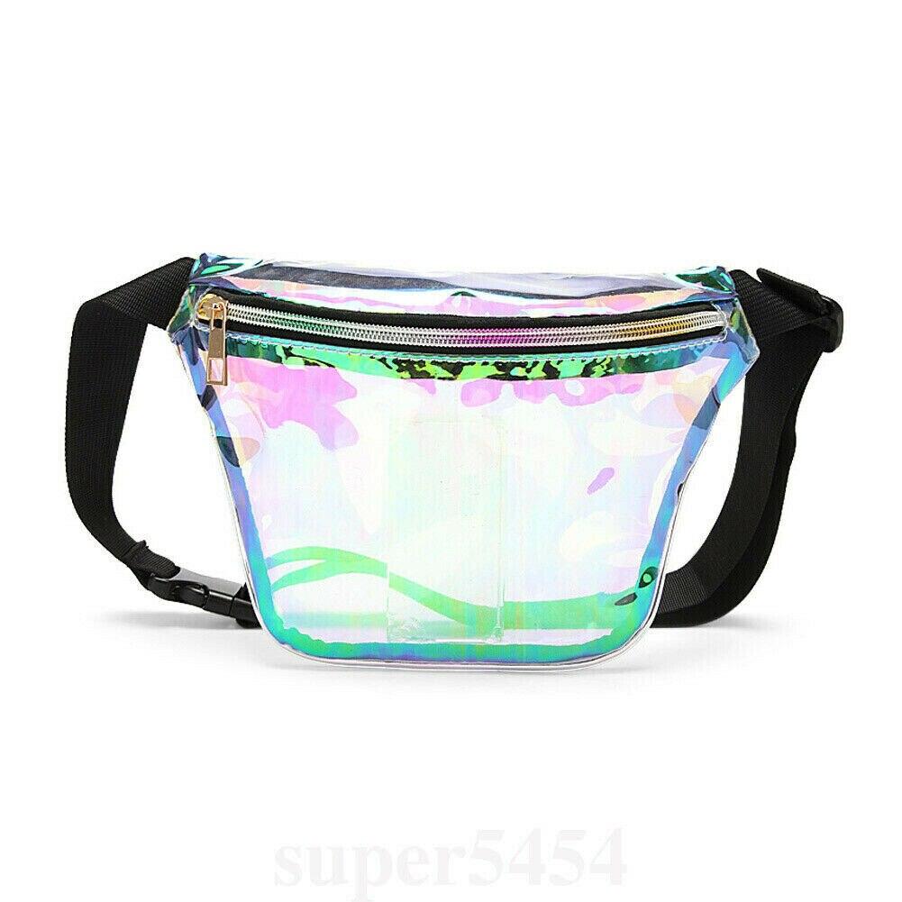 Punk Laser Lady Shoulder Waist Handbags Women Leather Fanny Chest Bags Purse