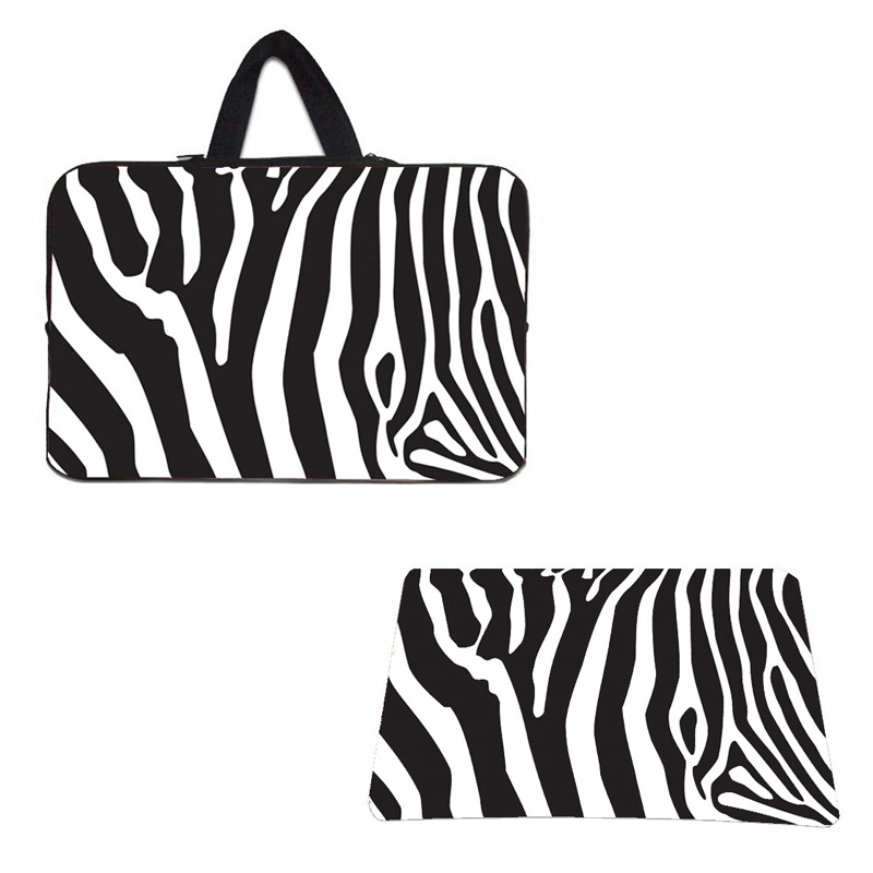 10 12 13 14 15 Zebra Notebook Shell Pouch Bag Tablets Mini PC Laptop Bags & Cases Chuwi Lenovo Apple + Zebra Mouse Pad / Set