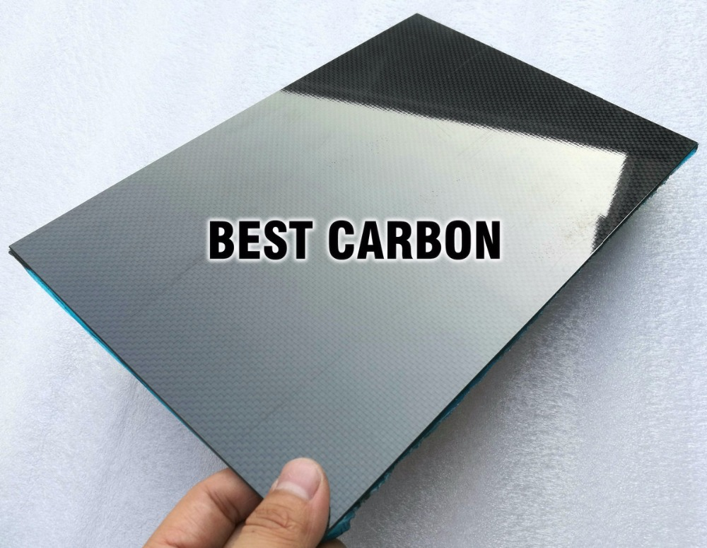 3mm x 200mm x 300mm 100% Carbon Fiber Plate, rigid plate , car board , rc plane plate<br>