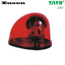 Zusen red led TB1201 24V Traffic barrier lights Signal Warning Light LED Lamp Magnet bottom(China)