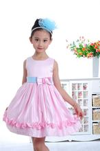 2017 New Arrival Hot Selling Baby Girl Ball Gown Dress Children Evening Dress Flower Princess Dress Sleeveless Summer Wear