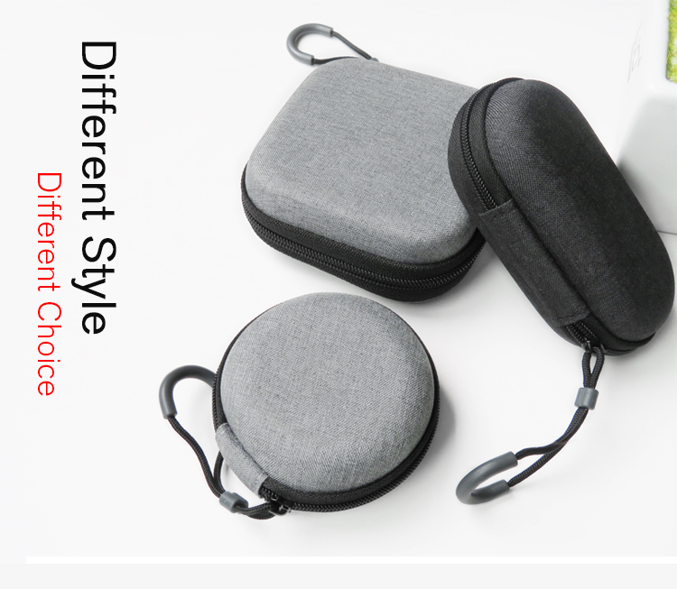 Headphones Earphone Cable Earbuds Storage Hard Case Universal Carrying Pouch Bag