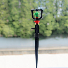 5pcs/pack Rotary Sprinkler Dripper With Spike For Greenhouse Potted Plant Irrigation Garden Lawn Micro Drip Fitting M128(China)