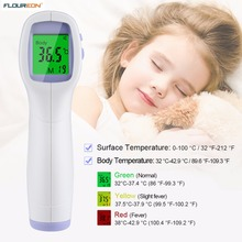 10 PCS Floureon Non-Contact Digital Infrared Body Surface Thermometer Handheld Medical Temperature Gun Forehead LCD Thermometer