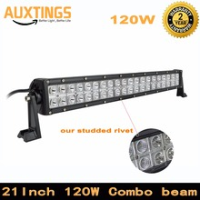 DE USA STOCK Free Tax Combo beam 120w 21inch Straight LED Light Bar for Work Driving Boat Car Truck 4x4 SUV ATV OffRoad Fog Lamp(China)