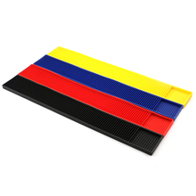 PVC Rubber Bar Mats/beer Cup Mat Non-slip Pad Bar Accessories/ Personalized Coasters Black Blue Pad Home Decor