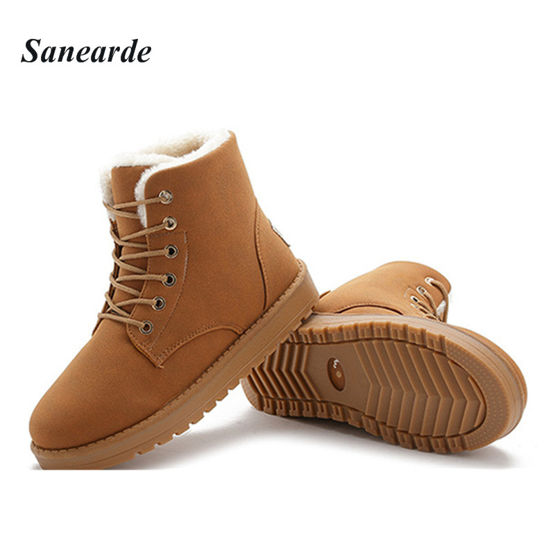 Women Flat High-top Casual Boots Fashion Lace-up Fur Winter Boots for Women 2017 Winter New Ankle Boots Fashion Boot Shoes<br><br>Aliexpress