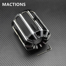 Machine Oil Grid Billet Aluminum Oil Filter Cover For Harley Motorcycles All Models(China)