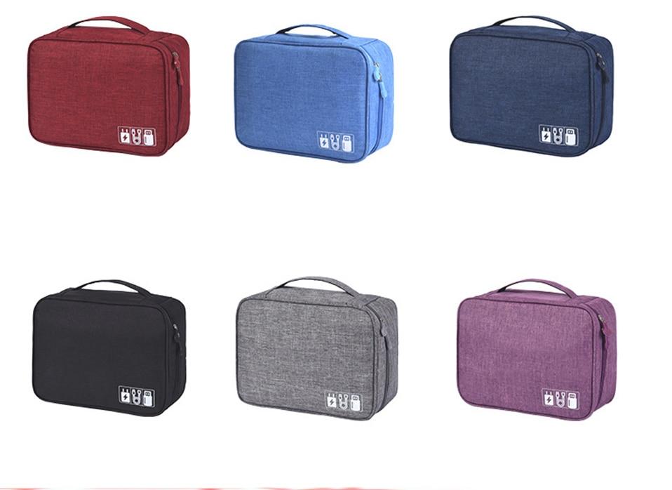 Travel Organizador Portable Digital Accessories Gadget Devices Organizer USB Cable Charger Tote Case Storage Bag Hot Sale (3)