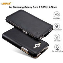 cell phones cases For Samsung Galaxy Core 2 duos G355H Flip Leather case Cover For Samsung Galaxy Core 2 dual sim(China)