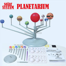 DIY Scale Models Nine planets Simulation Solar System Planetarium Model Kit Science Astronomy Project Early Educational toys(China)