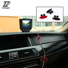 ZD 8x car-styling stickers on cars Wire Clip for iphone pad for ford focus 2 3 kia rio bmw e46 VW polo passat b5 b6 acessories(China)
