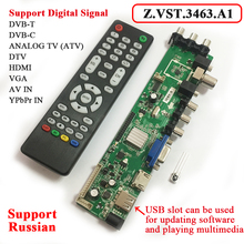 Z.VST.3463.A1 Support Digital Signal DVB-C DVB-T/T2 Universal LCD TV Controller Driver Board Better than V56 Russian Language