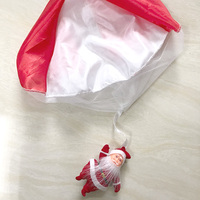 Santa Claus Hand Throwing Parachute toy Christmas decorations Children's gifts