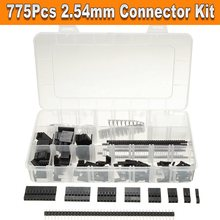 775 Pcs Connector Kit 2.54 mm PCB Pin Headers Box Packaging Electronics Machine  Electric Electronics Stocks