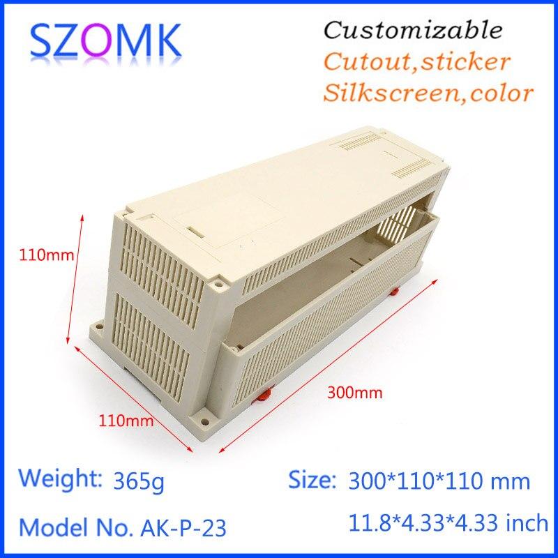 1 pc, szomk plastic box enclosure electronics plc din rail box 300*110*110mm Industrial box electrical junction box project case<br><br>Aliexpress