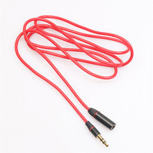 Best Price ! 3.5mm Red Male To Female M/F Plug Jack Stereo Audio Headphone Extension Cable Cord Free Shipping H0T0