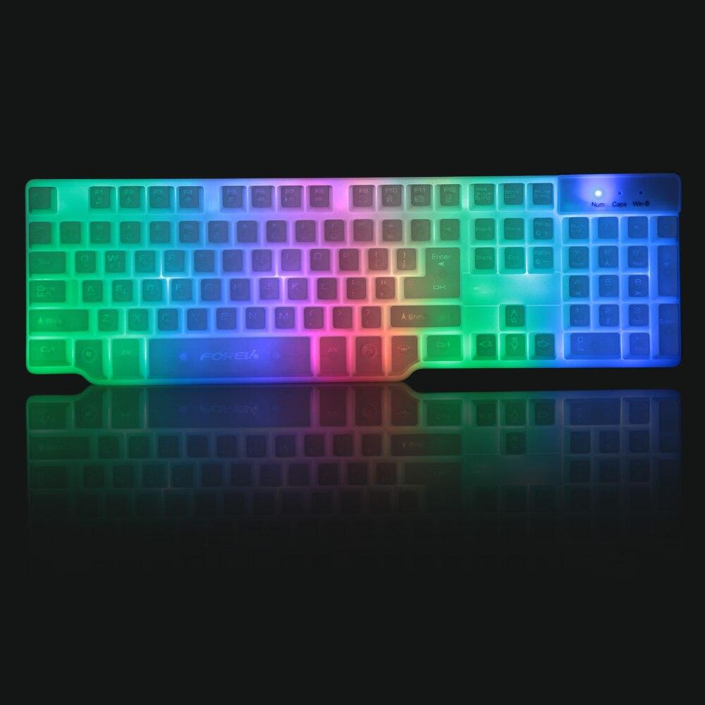 Forev Professional Usb Wired Gaming Keyboard Imitation B3 Hitam Mechanical Gamer With Led Backlit For Pc Laptop Desktop Electronic Keyboards Sale