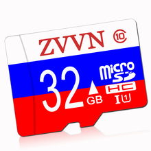 Micro SD Russian flag Memory Card 16GB 32G 64G MicroSD Cards SDHC SDXC 8GB 128GB C10 TF Trans Flash Mikro Card