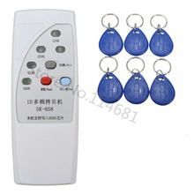 RFID Handheld Copier Duplicator 125KHz ID Door Access Control Card Copier Reader Writer+6 pcs Writable Keyfob