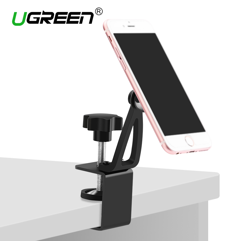 Ugreen Universal Magnet Phone Holder 360 Dgreen Rotation Magnetic Desk Phone Stand Mount for iPhone 7 6 Plus/5s/5 Samsung Tablet(China)