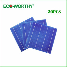 Hot * 2Solar Cell 6x6 Grade 4 Bus Bars 4.3W DIY Solar Panel 156x156mm Polycrystalline Price - ECOWORTHY Official Store store
