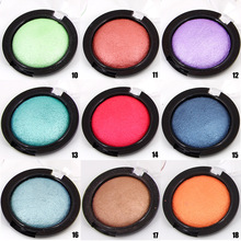 Professional Eye Color Shadow Cosmetics Waterproof Shimmer Powder 2017 Miss Rose Brand Makeup Baked Eyeshadow Single Palette