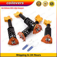 Coilovers For Subaru Impreza Outback Sport 02-07 Saab 9-2X WRX 04 STI GDB EJ20 EJ25 Adj. Drift Racing Coilover shock absorber