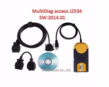 ZOLIZDA MultiDiag Access J2534 V2014.01 High Quality J2534 Access MultiDiag Pass-Thru OBD2 Device Special Discount DHL Free
