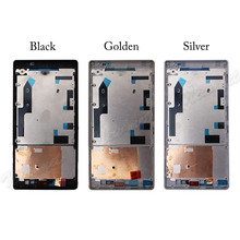 For Sony T2 Mid Middle Housing Frame Plate Bezel Replacement Parts Repair Part Newest Gold Black And Silver Free Shipping