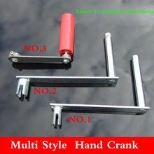 Multi style 6mm 8mm Shaft diameter Hand handle seven font style Gear motor Hand generator motor Crank handle