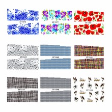 LCJ 1 Sheet Water Transfer DIY 3D Design Manicure Nail Art Stickers Decals Tools(China)
