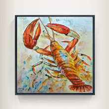 2017 Crab Lobster Water Colour Animal Wall Art Handmade Oil Painting Canvas Prints Big Size Home Lliving Room Bedroom Decoration(China)
